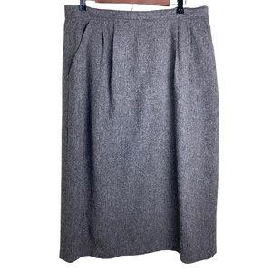Savannah Vintage 100% Wool Lined Pencil Skirt sz16